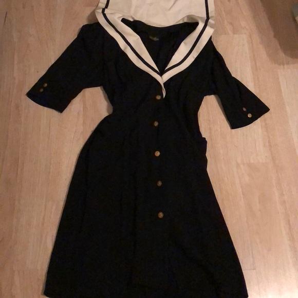 Vintage Dresses | Nautical Sailor Dress Plus Size | Poshmark